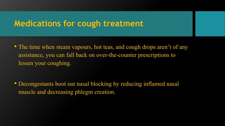 Medications for cough treatment