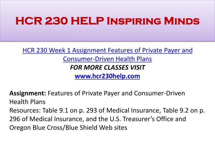 HCR 230 HELP Inspiring Minds