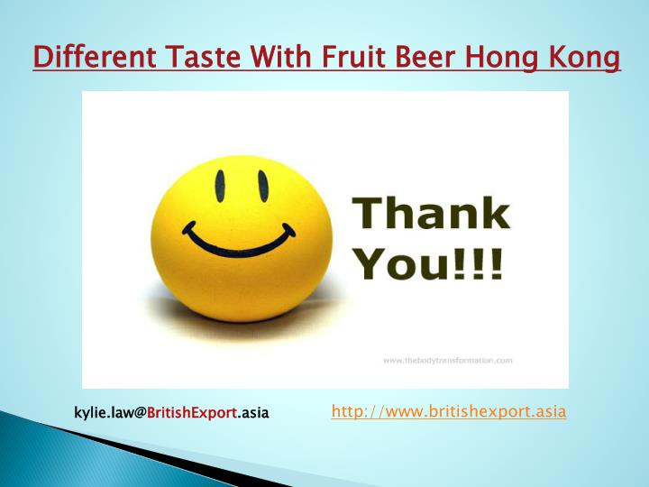 Different Taste With Fruit Beer Hong Kong
