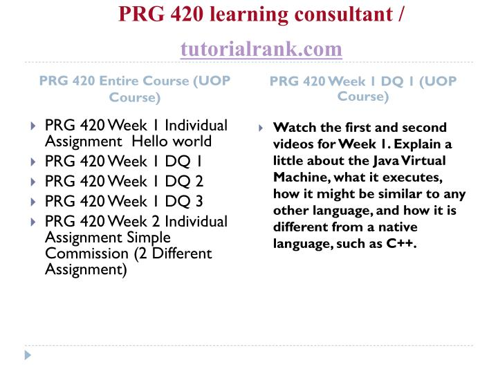 Prg 420 learning consultant tutorialrank com1