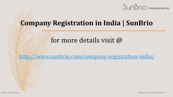 Company Registration in India |