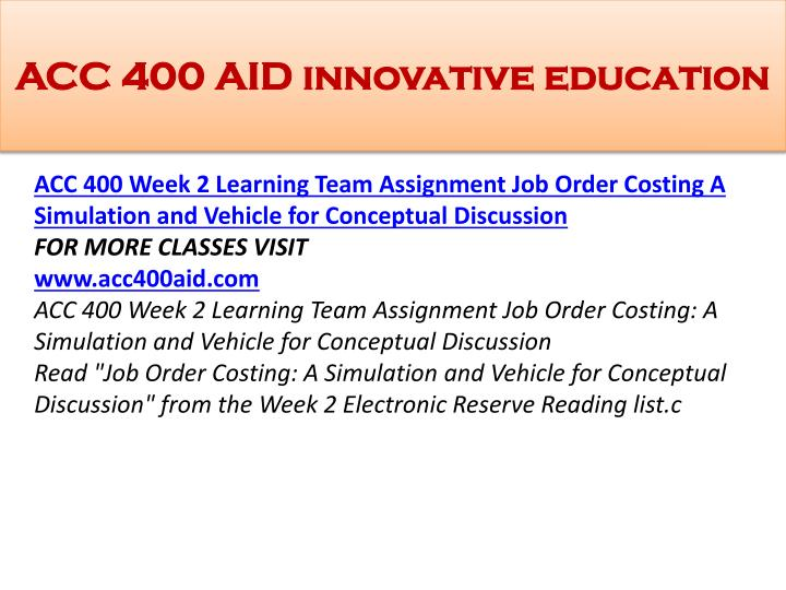 acc 400 week 2 team assignment text Acc 400 week 2 lta assignments from readings week 2 team 2 lta assignments from readings week 2 team questions following assignment from the e-text.