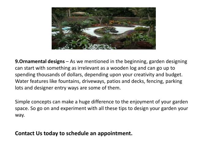 9.Ornamental designs