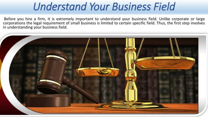 Understand Your Business Field