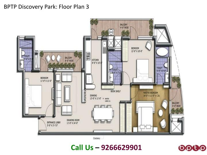 BPTP Discovery Park: Floor Plan 3