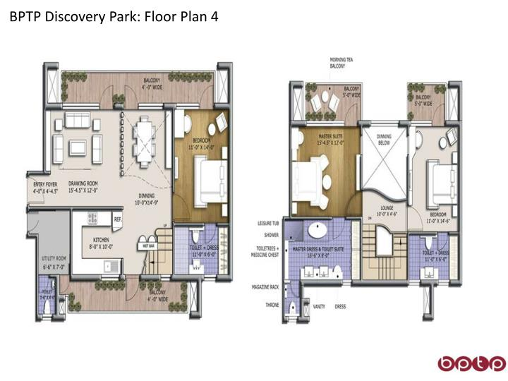 BPTP Discovery Park: Floor Plan 4