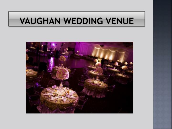 Vaughan wedding venue