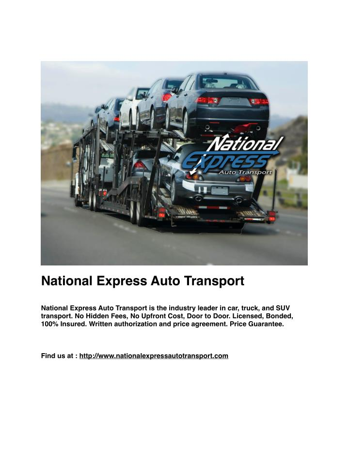 National Express Auto Transport