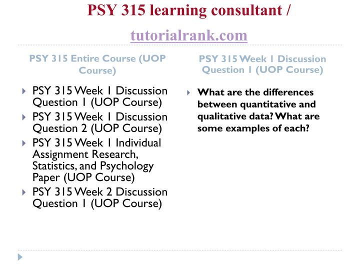 Psy 315 learning consultant tutorialrank com1