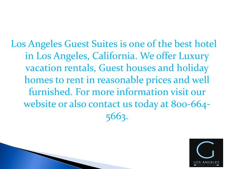 Ppt luxury vacation rentals los angeles powerpoint for Los angeles monthly rentals