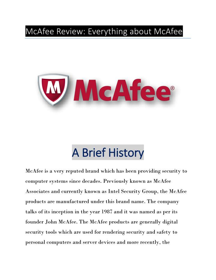 McAfee Review: Everything about McAfee