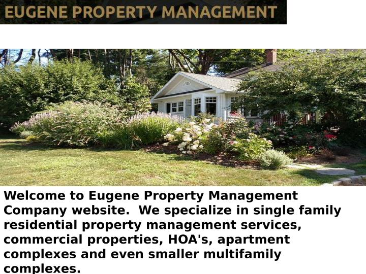 Welcome to Eugene Property Management