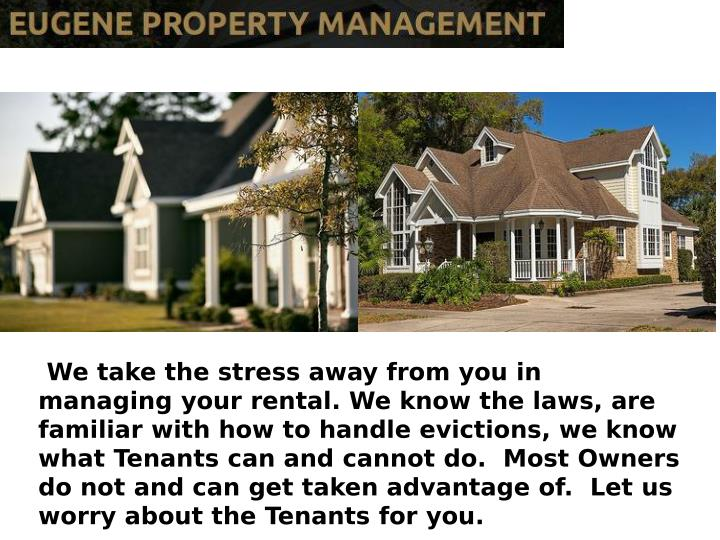 We take the stress away from you in