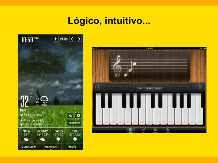 Lógico, intuitivo...