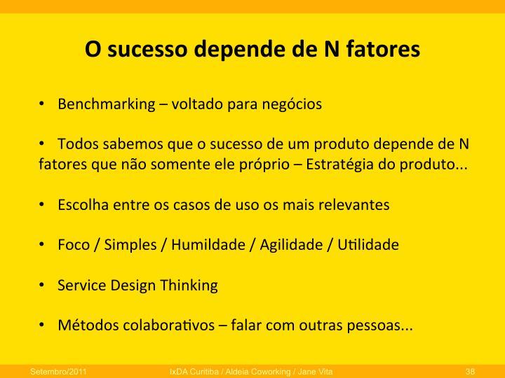 O  sucesso  depende  de  N  fatores
