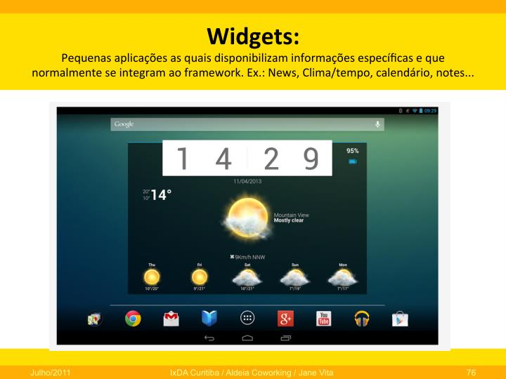 Widgets: