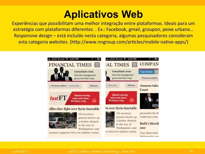Aplicativos Web
