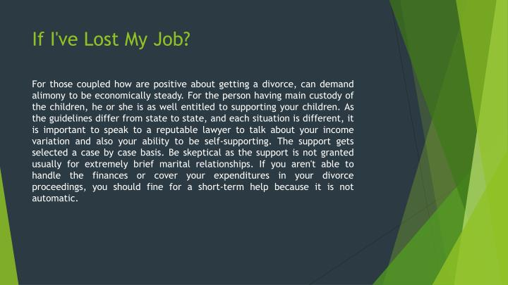 If I've Lost My Job?