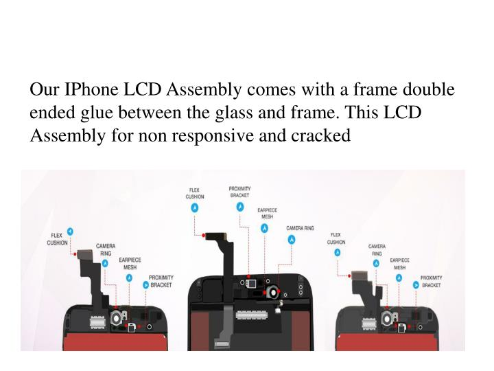 Our IPhone LCD Assembly comes with a frame double ended glue between the glass and frame. This LCD Assembly for non responsive and cracked