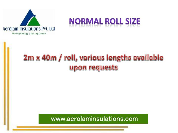 Normal roll size