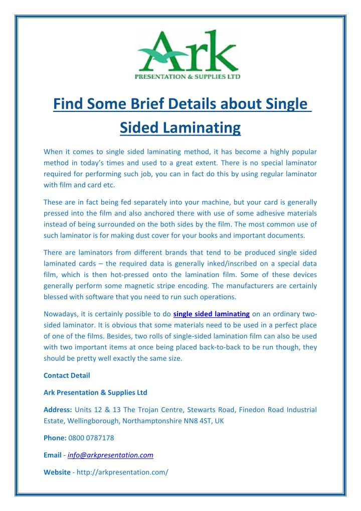Find Some Brief Details about Single