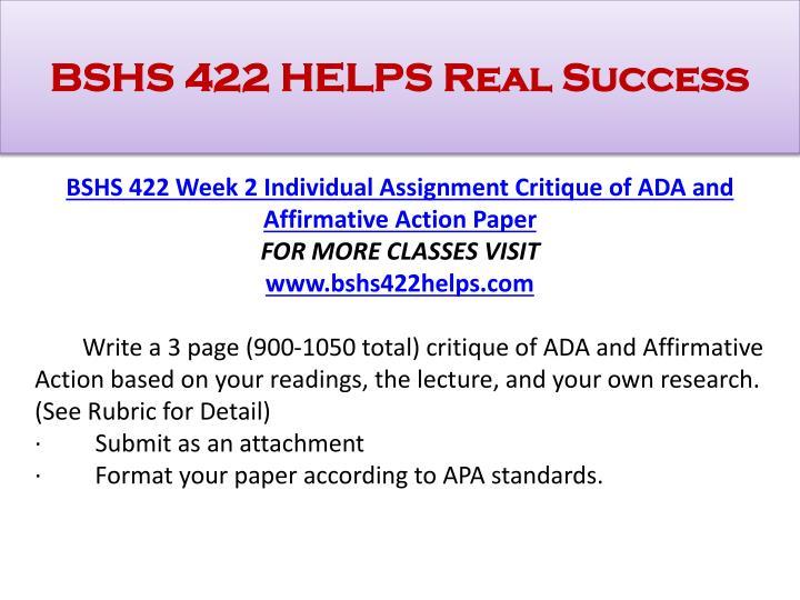 ada and affirmative action critique essay