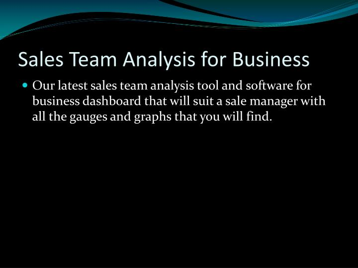 Sales Team Analysis for Business