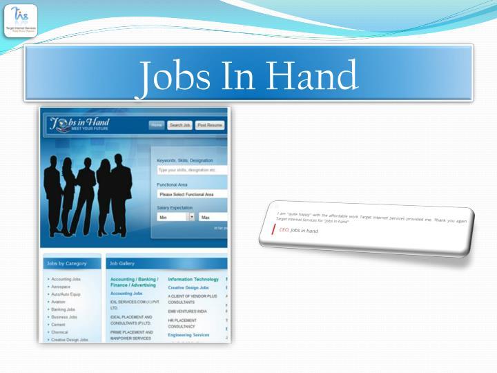 Jobs In Hand