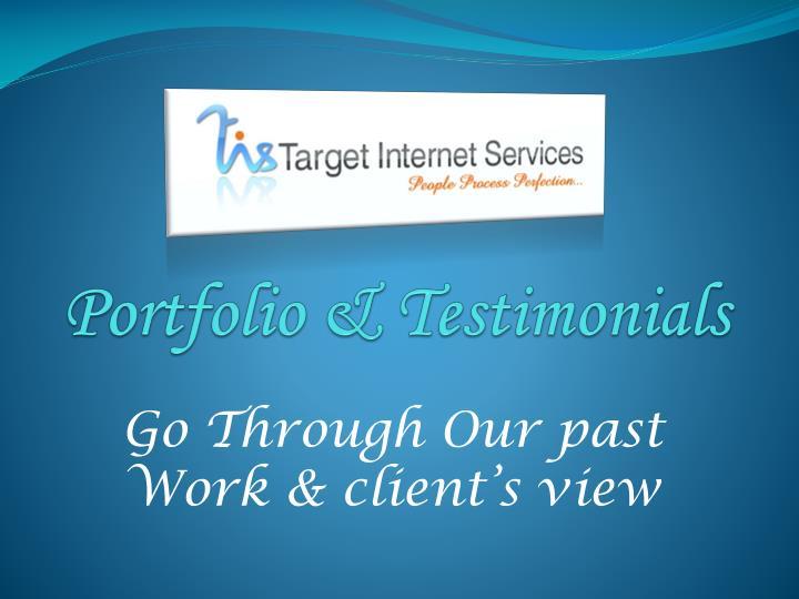 Portfolio & Testimonials