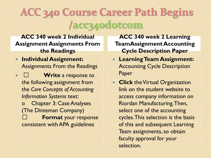 ACC340 week 3 Individual Assignment Accounting Information Systems Simulation Summary