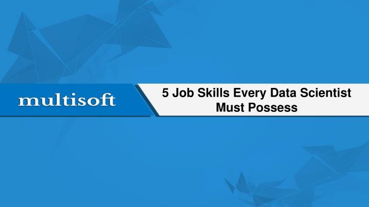 5 job skills every data scientist must possess