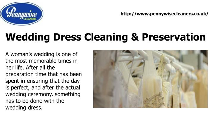 Ppt wedding dress cleaning preservation powerpoint for Wedding dress cleaning and preservation