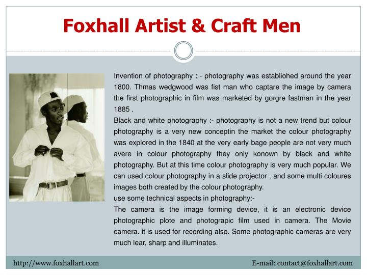 Foxhall Artist & Craft Men