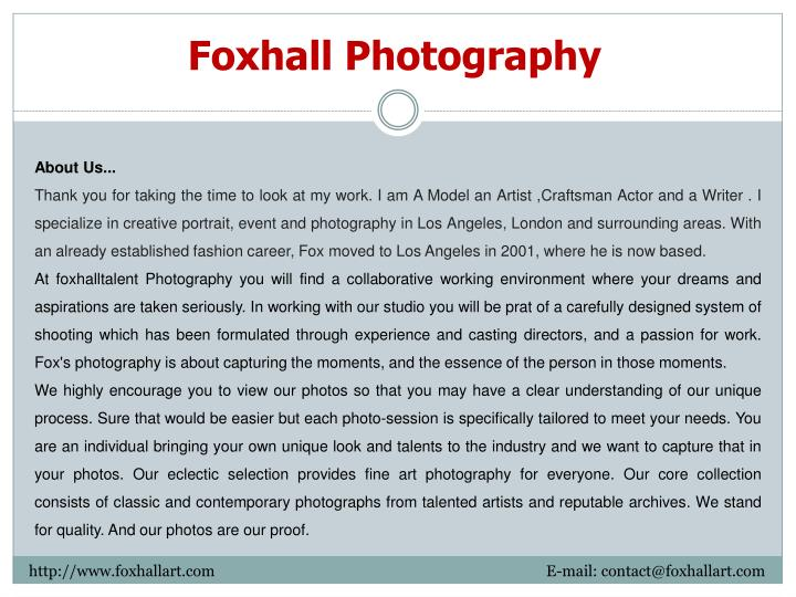 Foxhall Photography