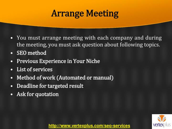 Arrange Meeting