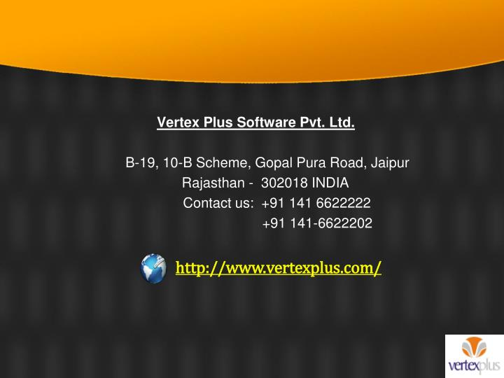 Vertex Plus Software Pvt. Ltd.