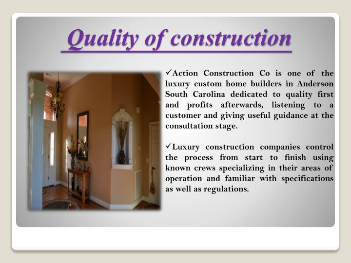 Ppt select luxury custom home builders by action for Home builders in anderson sc