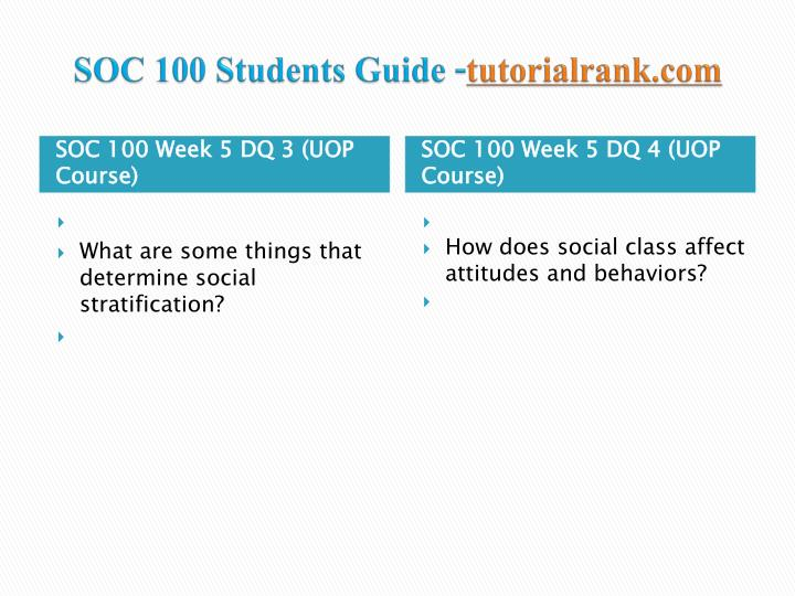SOC 100 Final Exam Review