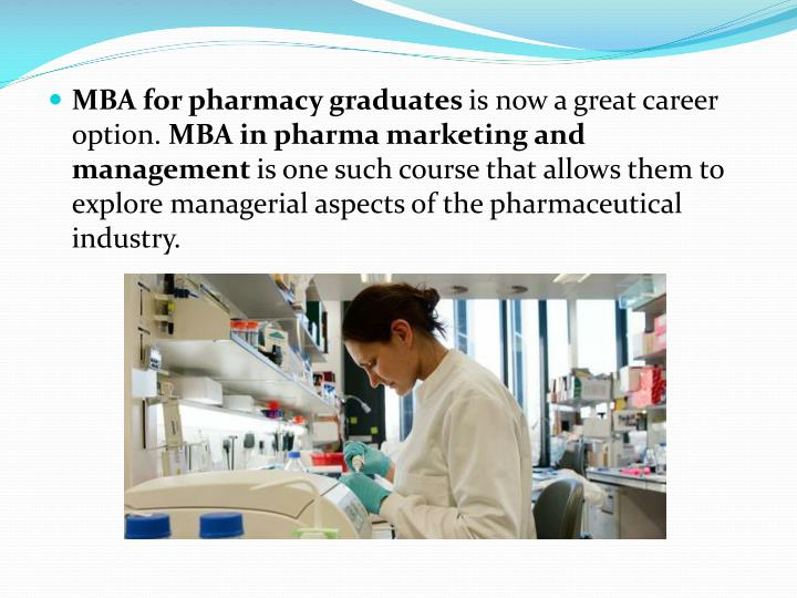 MBA for pharmacy graduates