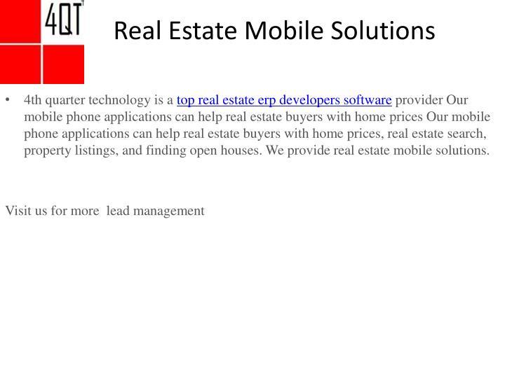 Best Real Estate Development Software : Ppt top real estate erp developers software qt