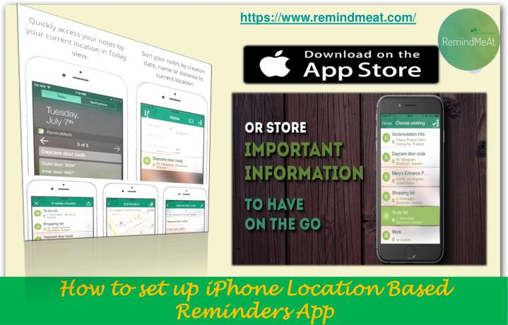 How to set up iphone location based reminders app2