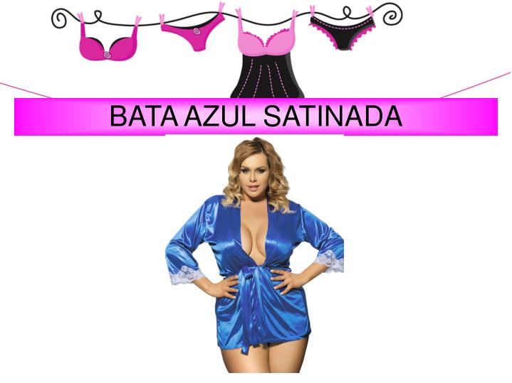 BATA AZUL SATINADA