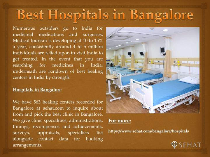 Best Hospitals in Bangalore