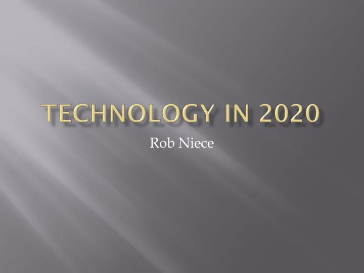 technology in 2020