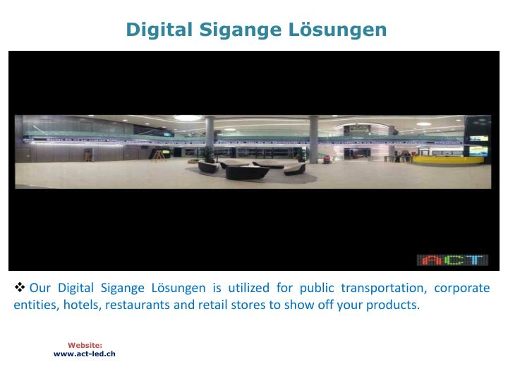 Digital sigange l sungen