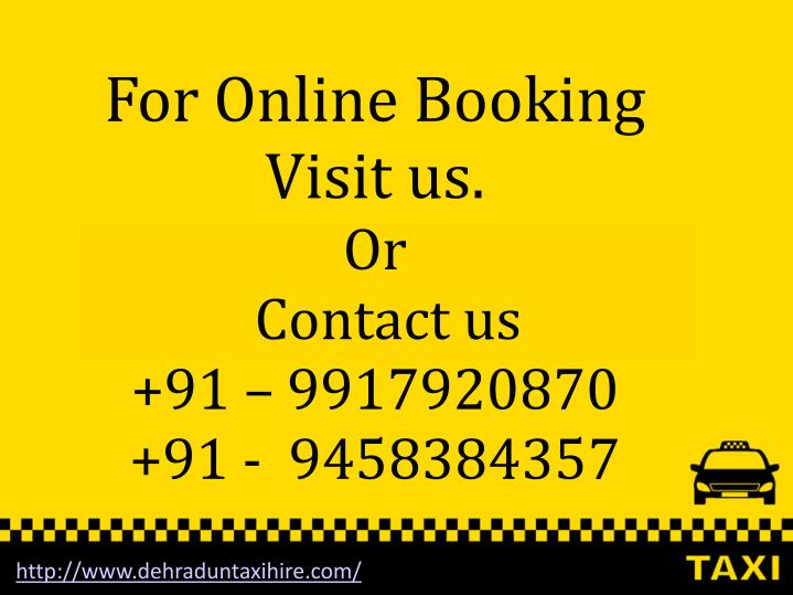 For Online Booking Visit us.