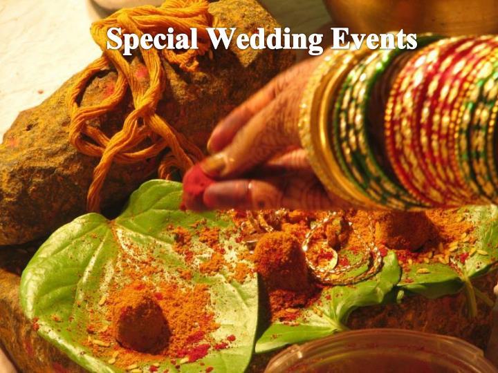 Special Wedding Events