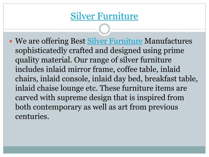 Silver furniture1