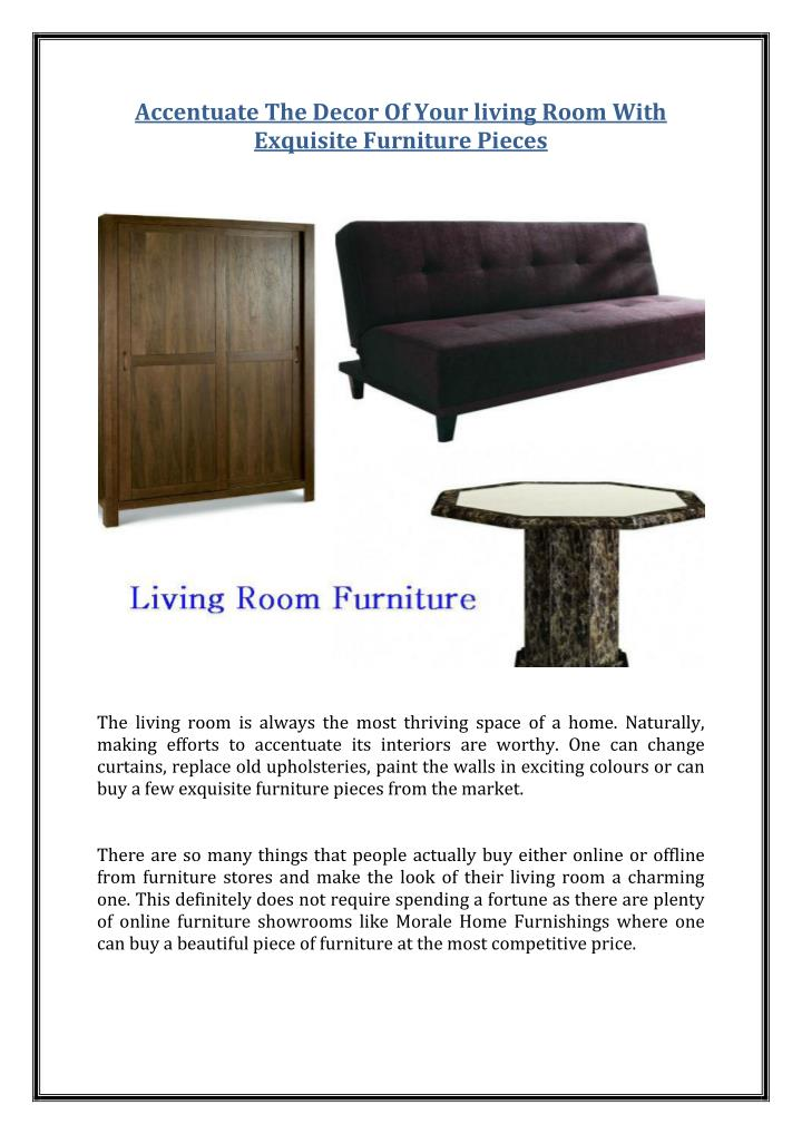 Accentuate The Decor Of Your living Room With