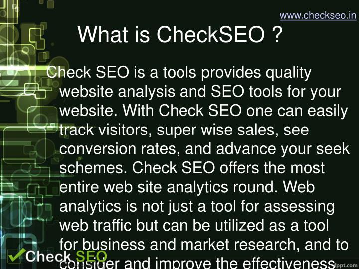 www.checkseo.in